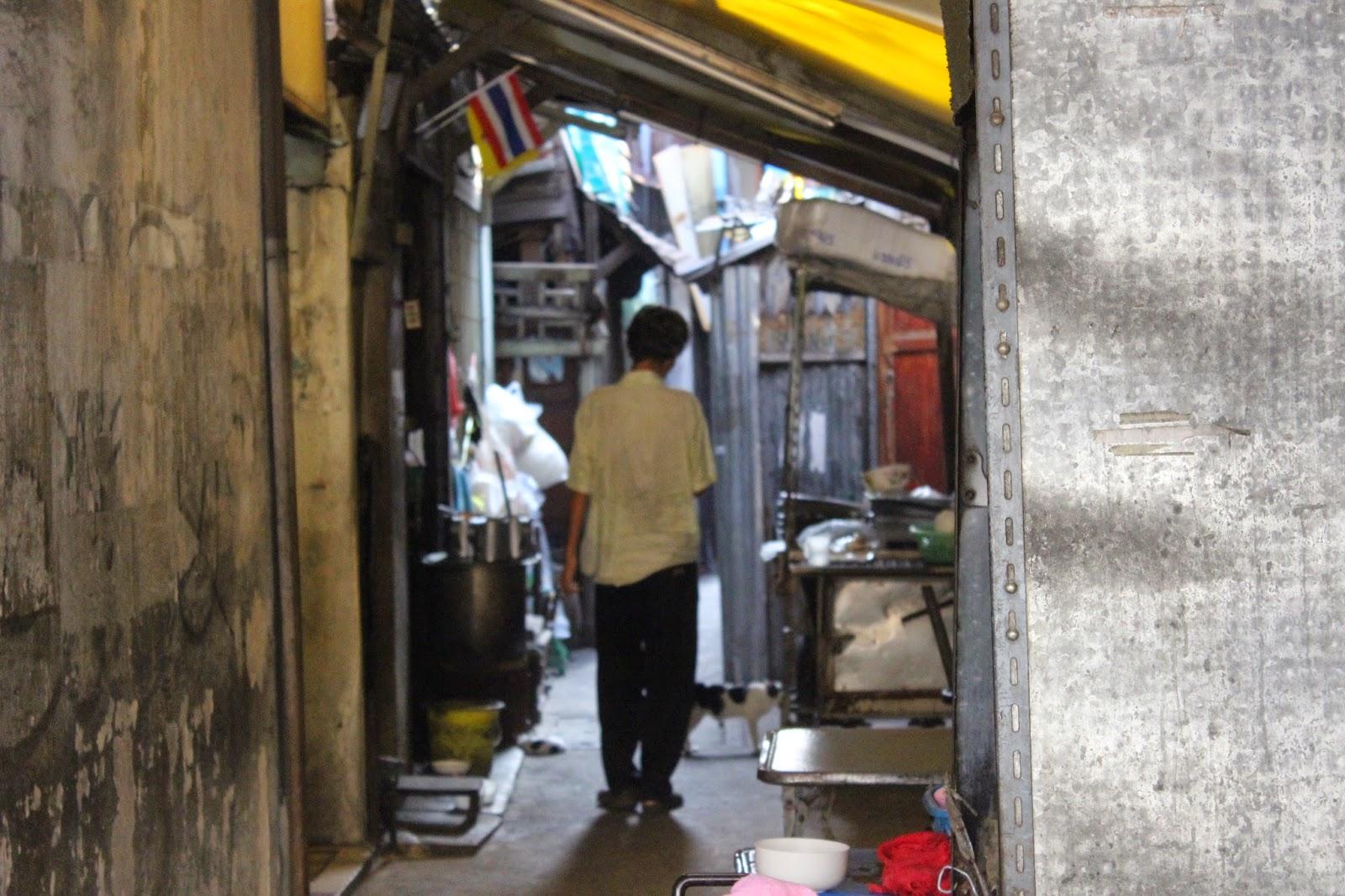 Wąska uliczka Bangkoku
