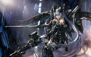 Armor Sword Beautiful Female Girl Anime HD Wallpaper Desktop PC Background 1885