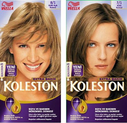 ... ve Balyaj Teknikleri: Palette renk kataloğu-Koleston renk kataloğu