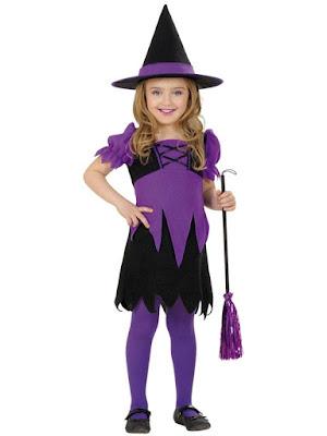 Halloween Hekse kostume lilla