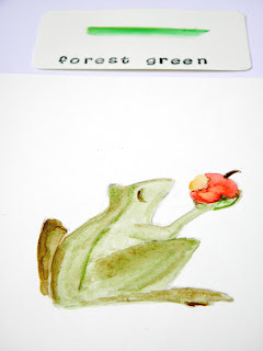 frog prince inspired color pick forest green.