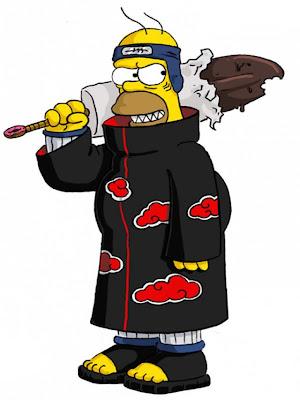 Homero Simpson al estilo Naruto