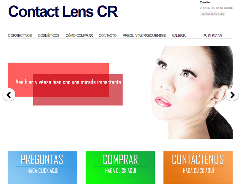 Tienda virtual de Contact Lens CR
