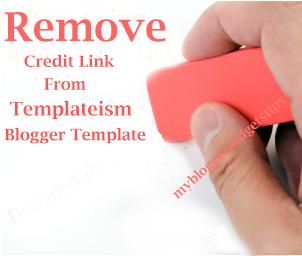 Menghilangkan Credit Link Footer di Template Blog