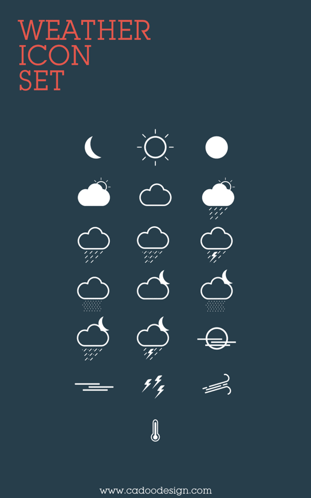 Weather Icon Set (Free)