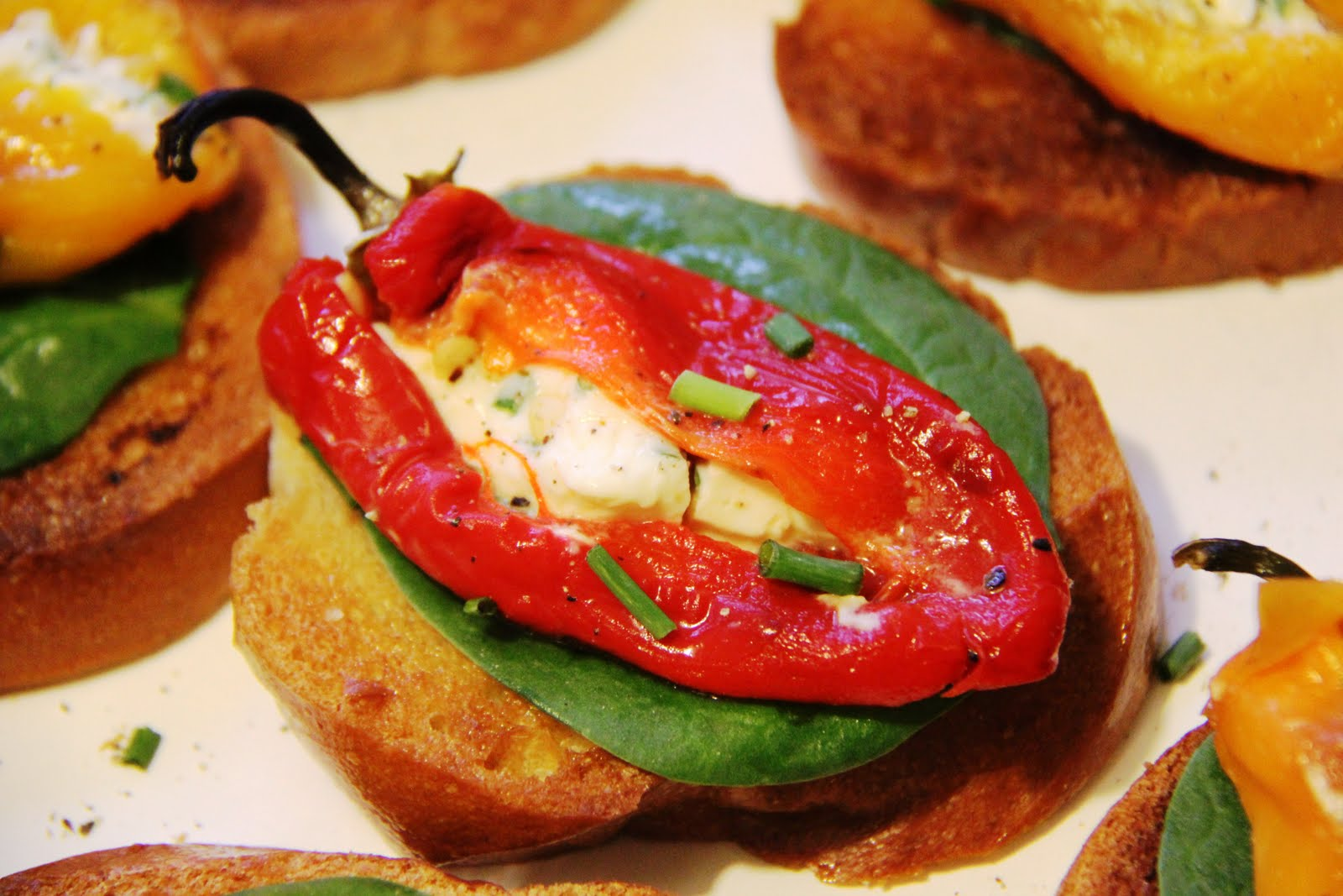 ... Roasted Mini Sweet Pepper Canapés | Recipe | Stuffed Roasted Sweet