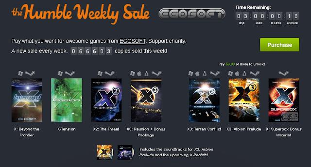 Pack de juegos de la desarrolladora EGOSOFT desde un donativo de 1$