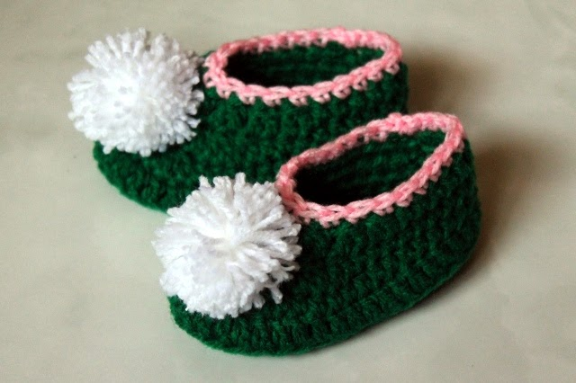 crochet tinkerbell baby shoes