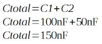 Contoh menghitung kapasitor paralel