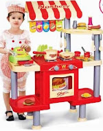 Children's Kitchen Food Stand Play Set