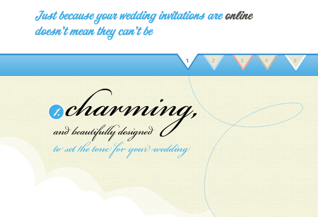 A simple beautifully designed online wedding invitation