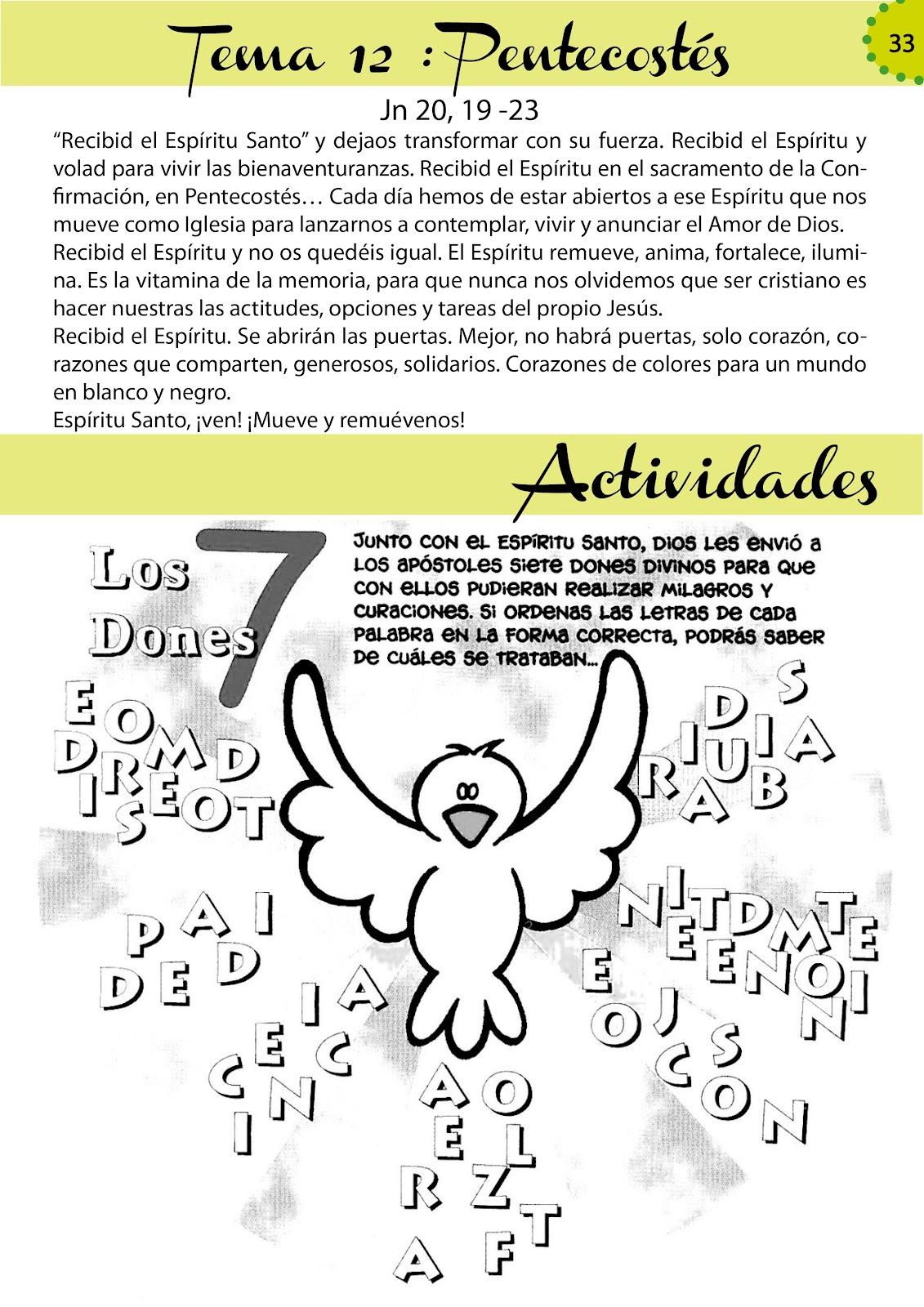 Catequesis de Perseverancia: LA SANTISIMA TRINIDAD + DONES DEL ...