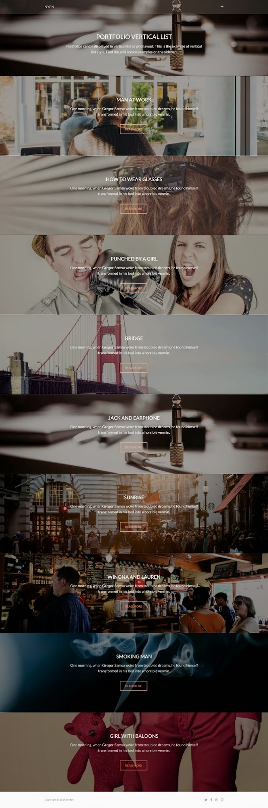 Nyobian Blog And Portfolio WordPress Theme 2015