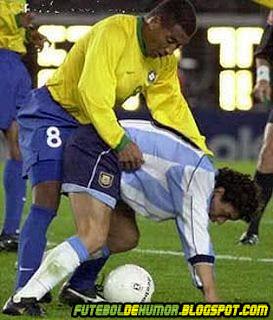 Brasil e Argentina - Encoxada