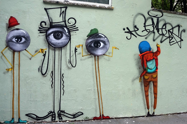 After the Os Gemeos and JR collaboration last week, the duo has now added a third member to its line-up to create a new work on the streets of New York City.