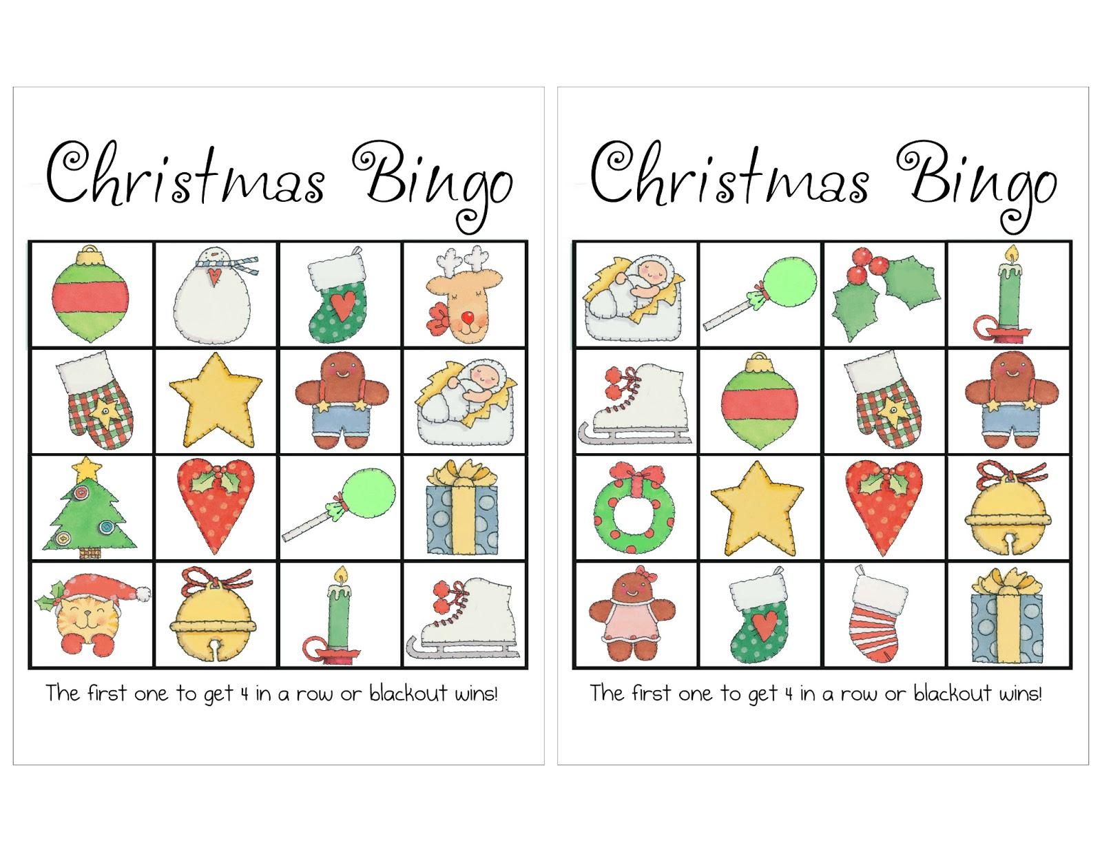 Christmas Bingo Christmas bingo