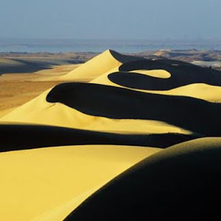 A string of dunes at the southern extremity of the lower lake, Wadi Rayan protected area!