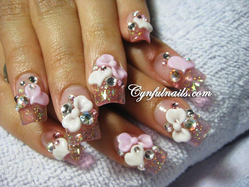 Cynful Nails: Clear pink acrylic nails