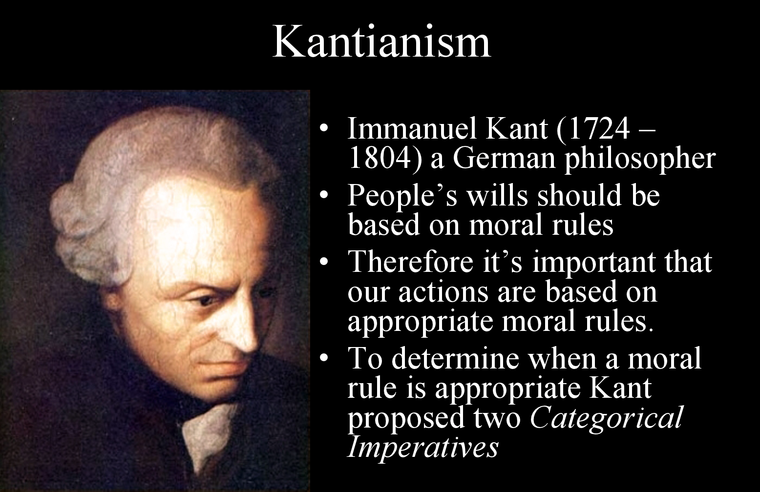 kant goodness We begin with the concept of that which can be conceived to be good without qualification, a good will other good features of human nature and the benefits of a good life, kant pointed out, have value only under appropriate conditions, since they may be used either for good or for evil but a good.