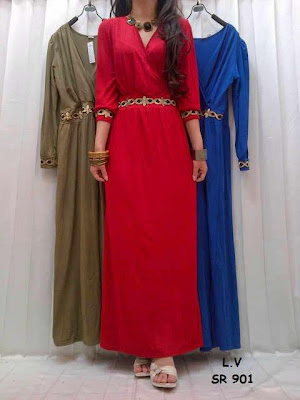 Maxi Dress Botton Kode D-901