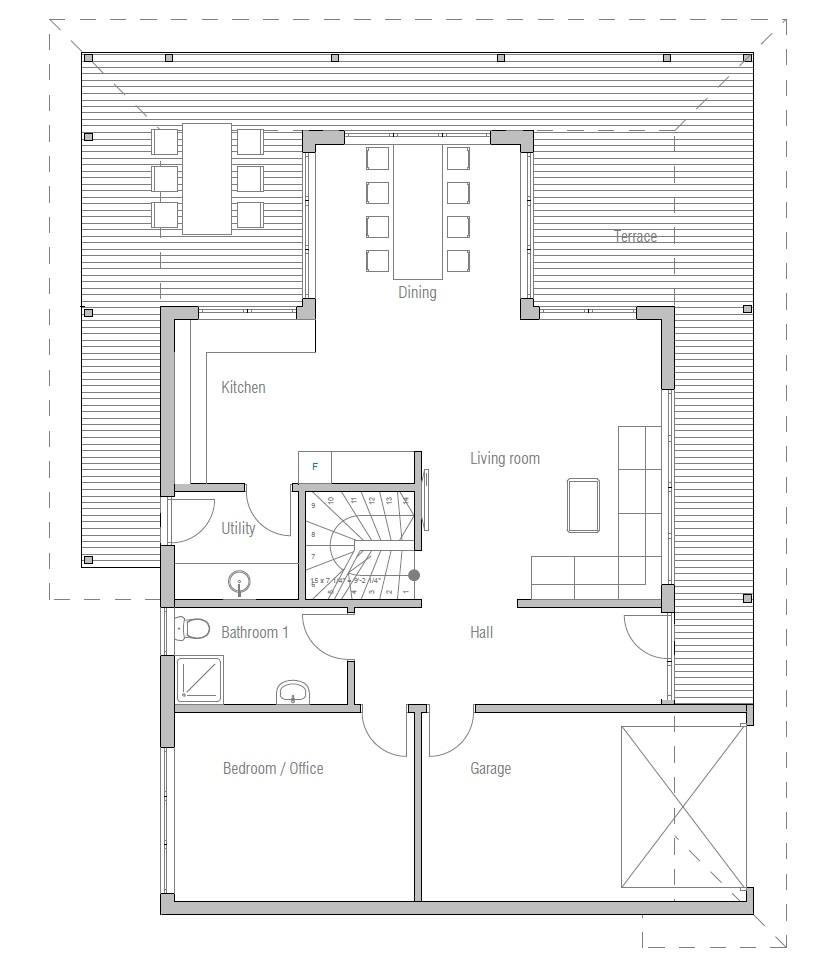 Affordable home plans economical house plan ch179 for House plans that are cheap to build