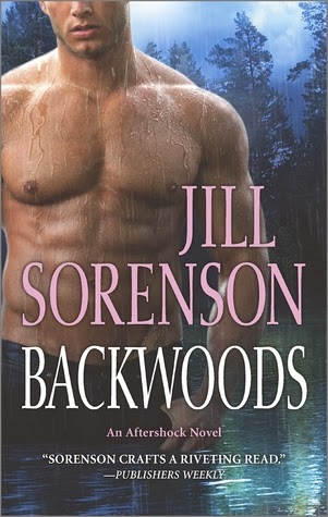 Cover description, Backwoods: Close-up of a shirtless man. He's in a lake and on the background there's a forest.