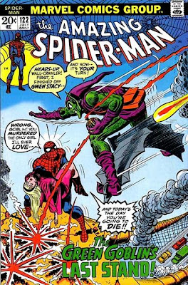 Amazing Spider-Man #122, the death of the Green Goblin