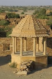 Temple at Kuldhara village - Jaisalmer