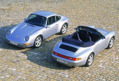 Porsche 911 Carrera 3.6 Cabriolet (right), Porsche 911 Carrera 3.6 Coupé (left), 1994