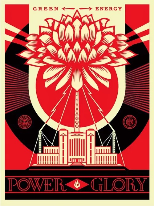 """""""Green Power"""" new print release by American artist Obey Giant aka Shepard Fairey - Available January 28th. 1"""
