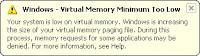 Alert Virtual Memory Low