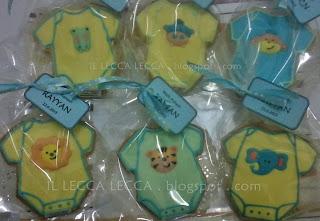 Fancy cookies baby rompers cute animal face