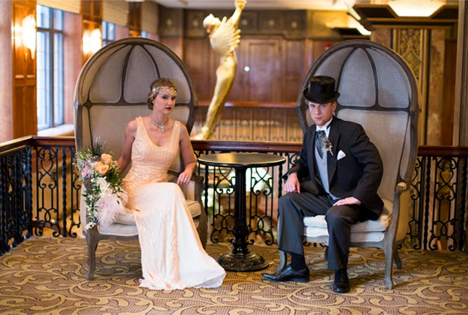 1920s Art Deco Wedding Inspiration Shoot