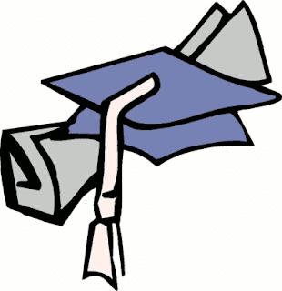 clip art de birrete y diploma de graduación