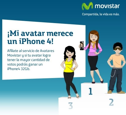 Movistar Perú: Gana Un Iphone 4 Con Tu Avatar