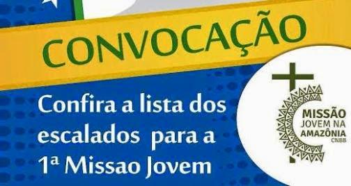 Confira os selecionados para a primeira Missão Jovem na Amazônia