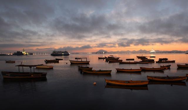Fotografia, Rio de Janeiro, profissional, o globo, amanhecer, por do solm, visual, barcos