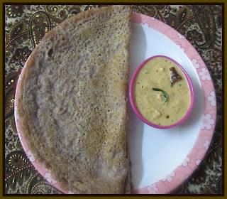 ragi dosa with dosa batter
