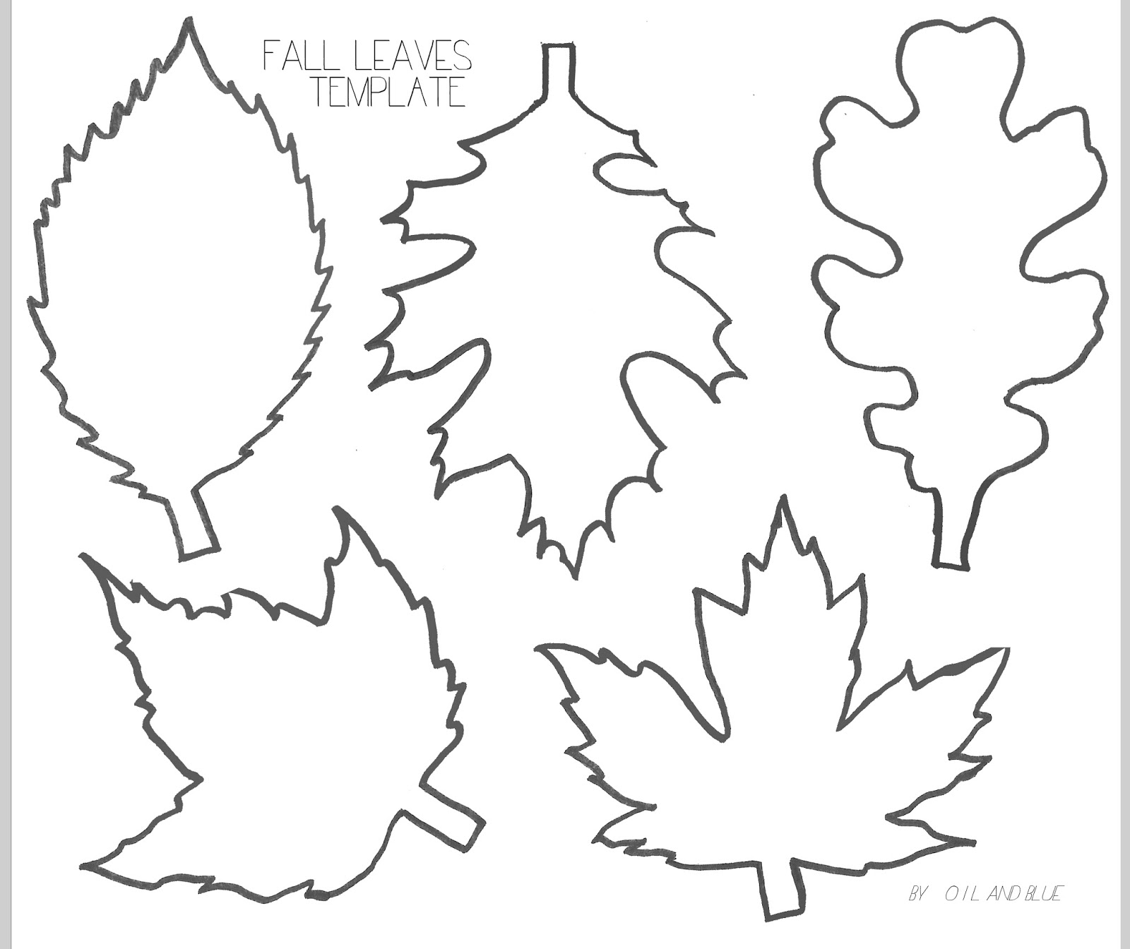 Fall Leaf Templates