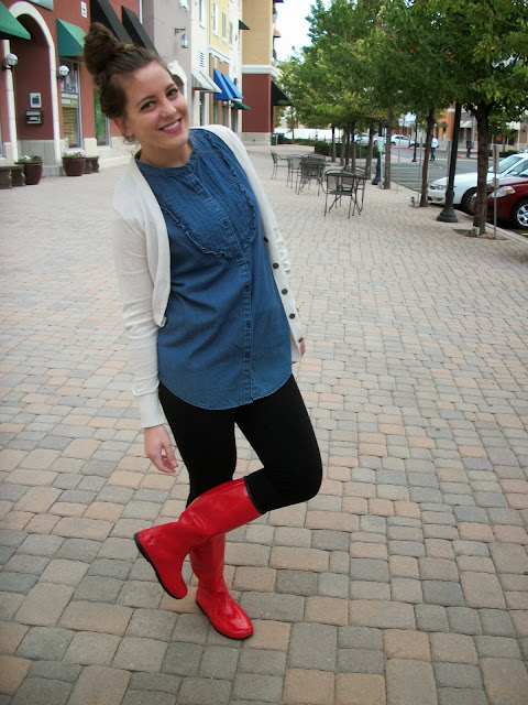 red rain boots and a giveaway