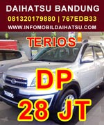 Promo Daihatsu Terios Maret 2015, DP Daihatsu Terios, Kredit Daihatsu Terios 2015
