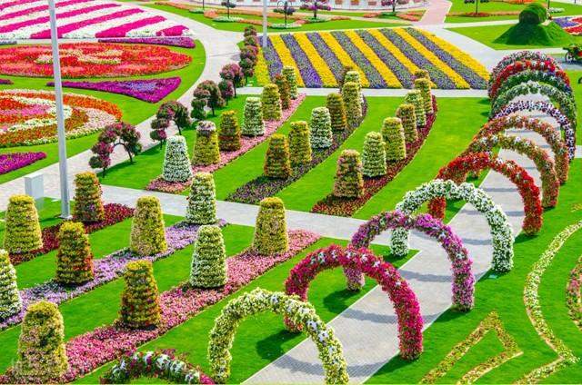 الحديقة المعجزة في دبي