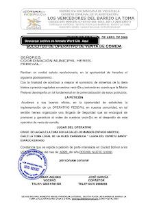 solicitud de venta de comida a pedeval a precios regalados (subsidiados)
