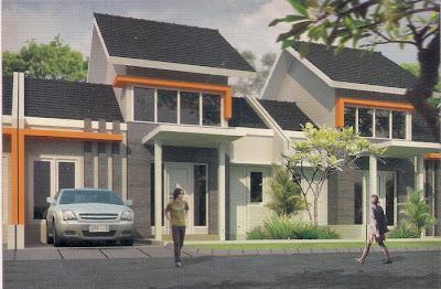 contoh denah rumah minimalis rumah type 62/120