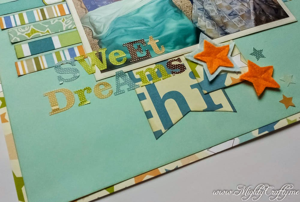 Sweet Dreams layout for Sketch N Scrap challenge #57 -- www.MightyCrafty.me