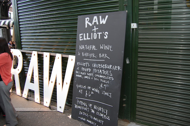 RAW and Elliot's - Natural Wine and Burger Bar