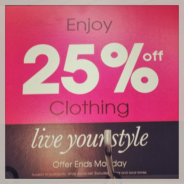 Save 25% off clothing at Sainsburys until Monday - November clothes sale
