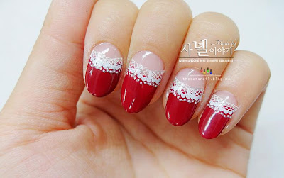 LACE DOT nails