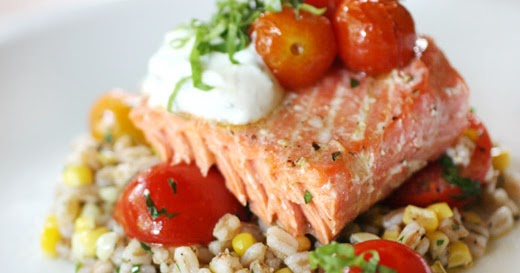 lisa is cooking: Slow Roasted Salmon with Cherry Tomatoes ...