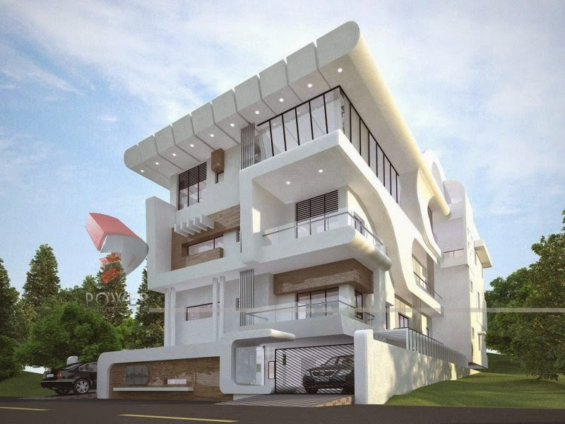 Ultra modern home designs home designs house 3d for Modern chinese house design